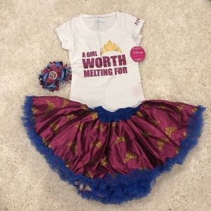 NWT Disney Collection by Tutu Couture ANNA 2PC Set